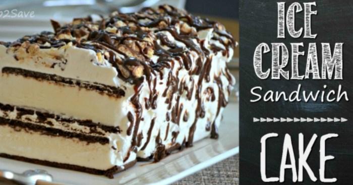 Ice Cream Sandwich Cake Hip2Save