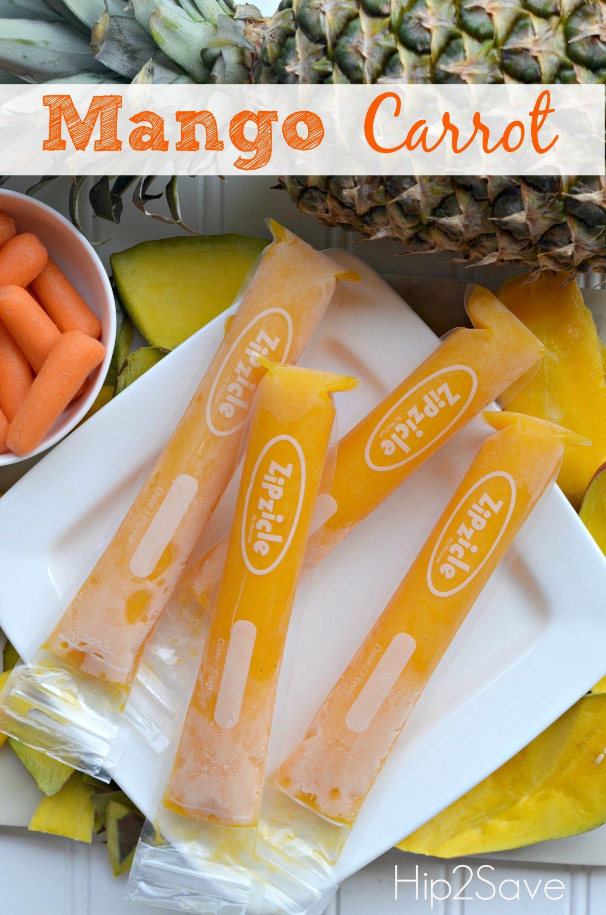 Mango Carrot Otter Pops