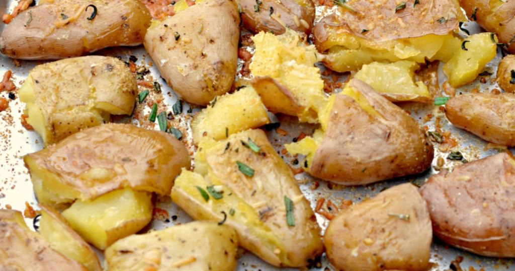 parmesan smashed potatoes