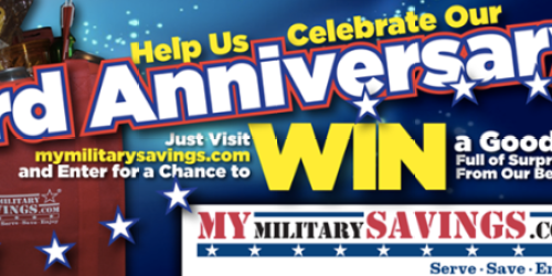 Military Giveaways: Enter to Win Goodie Bags + More (+ July Commissary Deals & New Coupon Page)