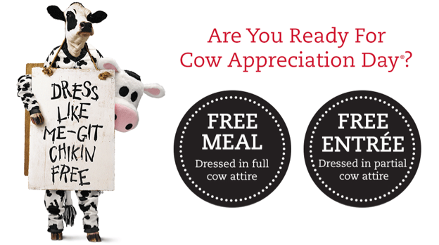photo regarding Chick Fil a Printable Cow Costume known as Chick-fil-A Cow Appreciation Working day: Costume Up inside of Cow Apparel