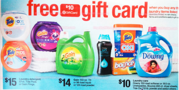 Target Free 10 Target Gift Card W Purchase Of 3 Participating Laundry Items Starting 7 13 Get Your Coupons Printed Clipped Now Hip2save