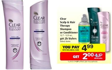Free Clear shampoo coupon $2