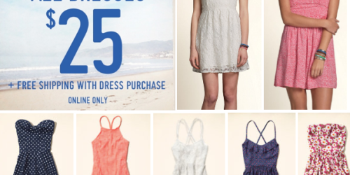 Hollister.com: All Dresses Only $25 + FREE Shipping (Regularly $59.95 – Today Only!)