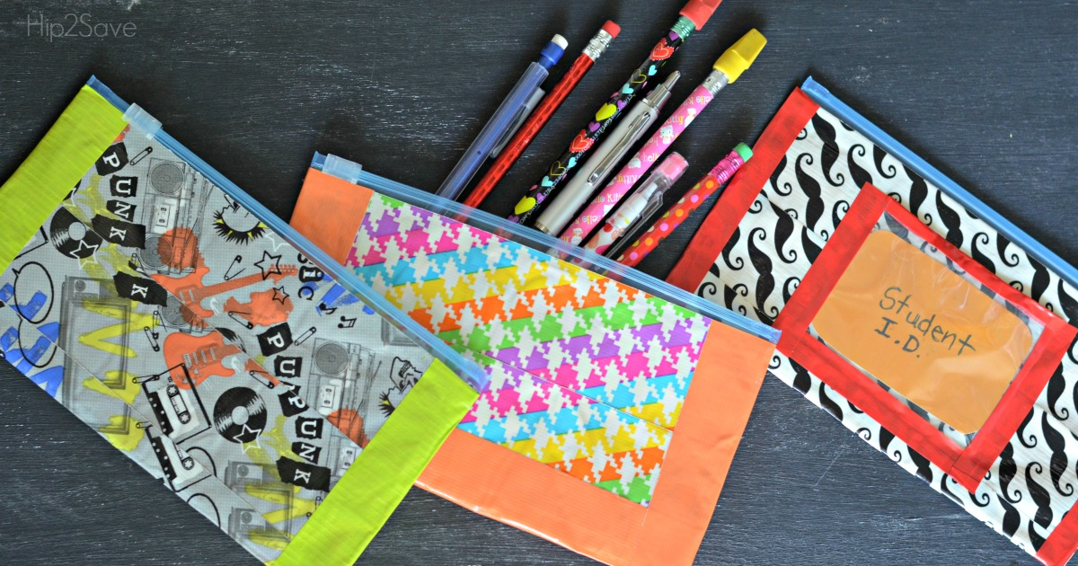 Duct Tape Pencil Pouches Easy Back To School Craft Hip2save
