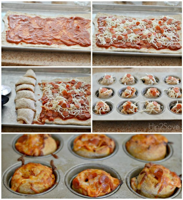 How to make pizza muffins Hip2Save
