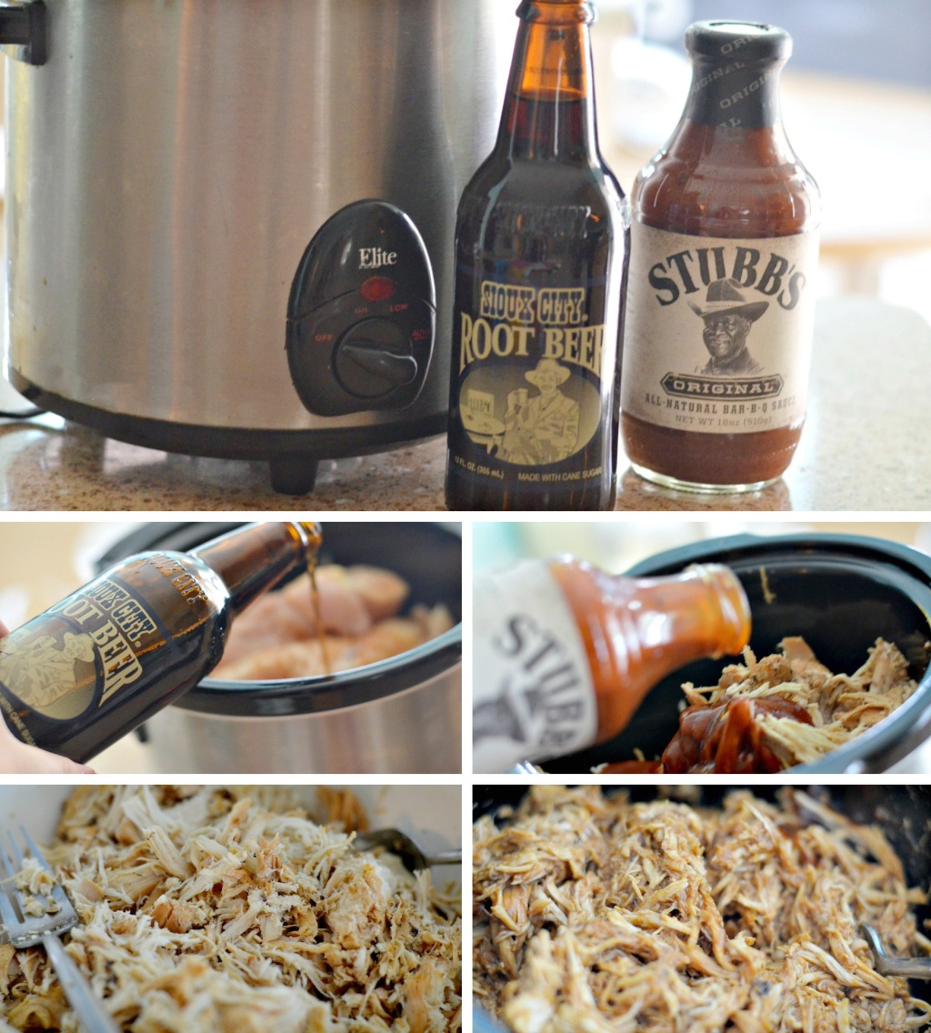 root beer bbq ingredients with slow cooker