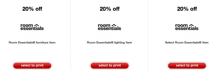 Target coupons room essentials