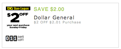 Dollar General Register For A Digital Account 2 Off Your Next Purchase Digital Coupon Hip2save