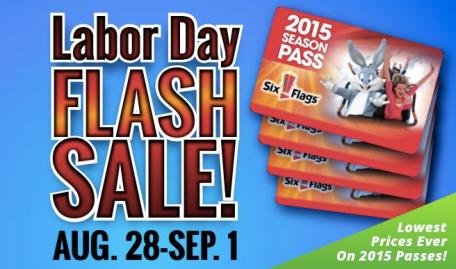 Buy 4 Six Flags Season Passes = FREE Upgrade to a Gold Pass, FREE