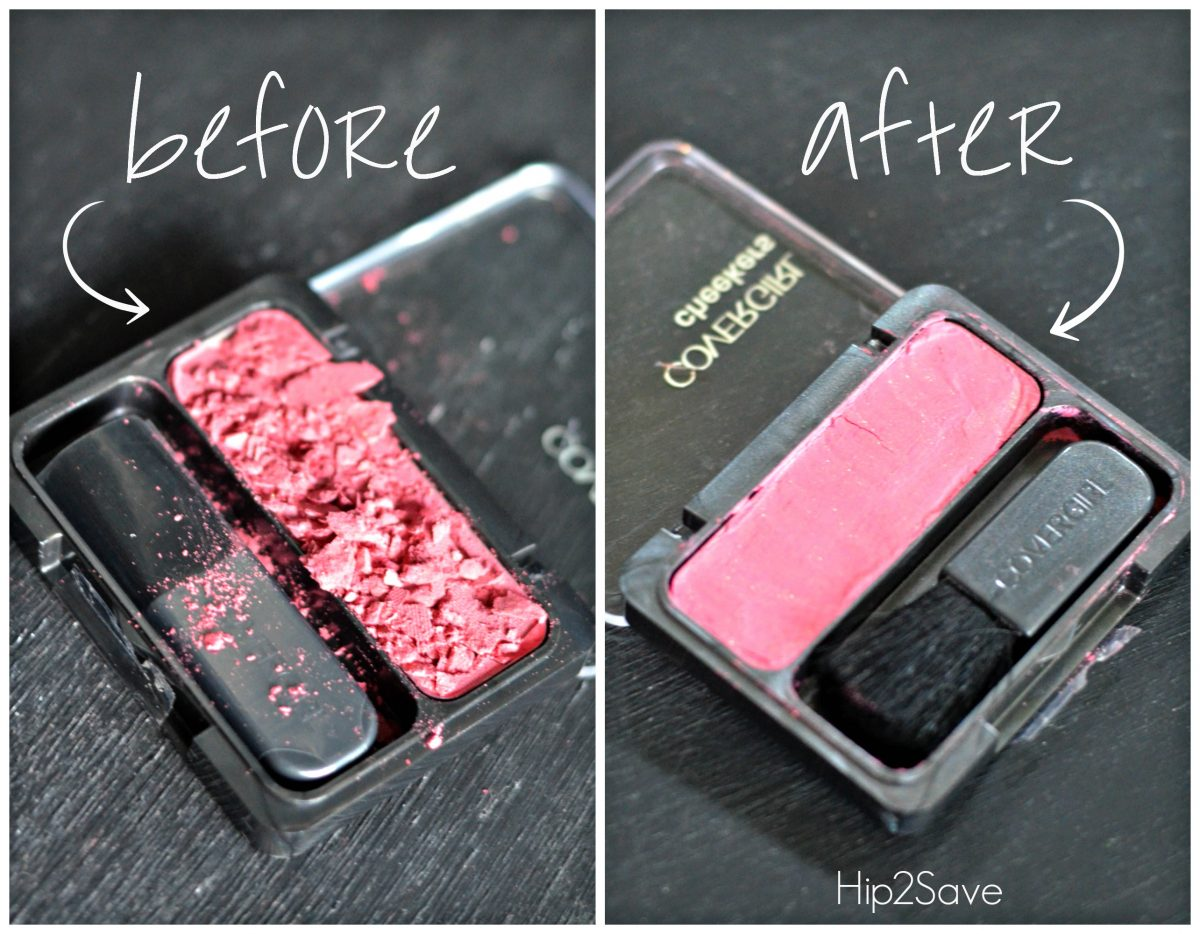 After fixing shattered makeup Hip2Save