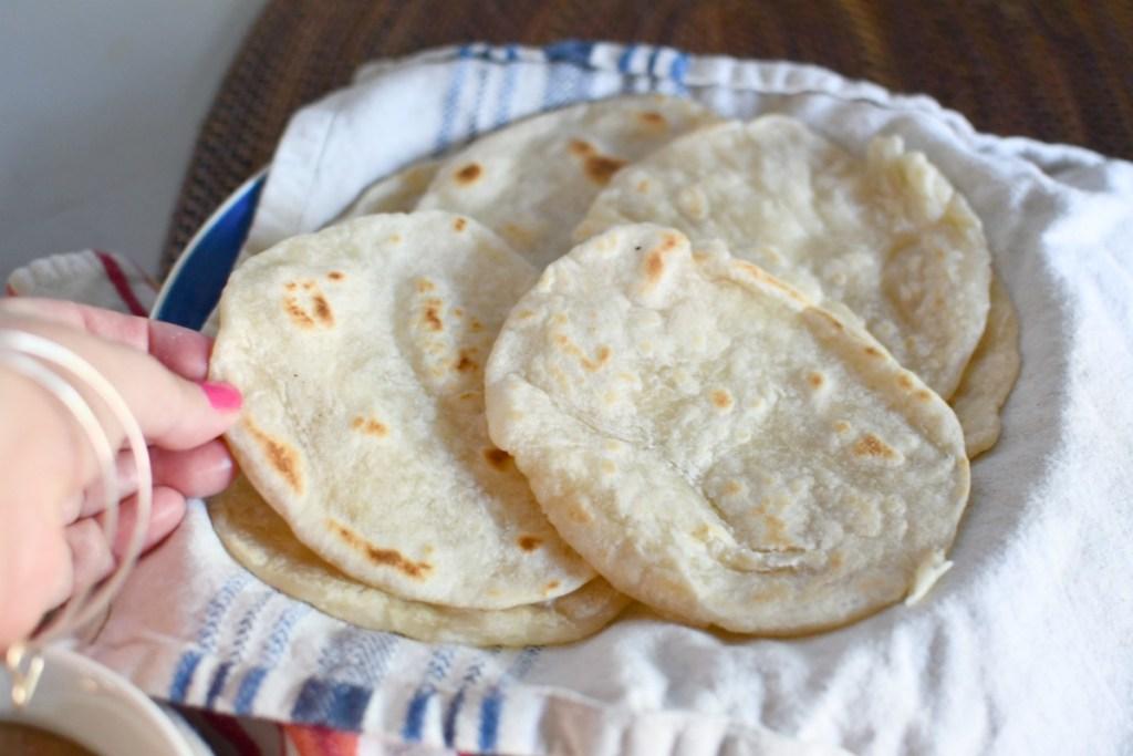 batch of homemade tortilla