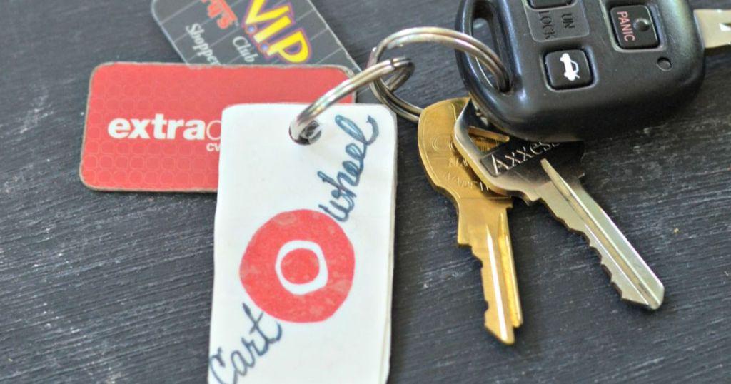 cartwheel key chain diy