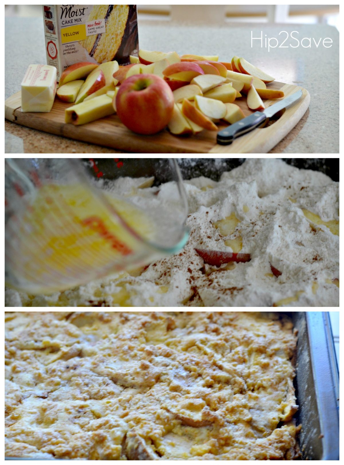 How to make an apple dump cake