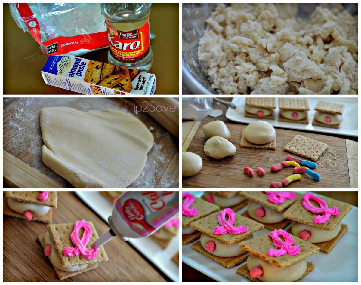 How to make marzipan Mammo-grahams