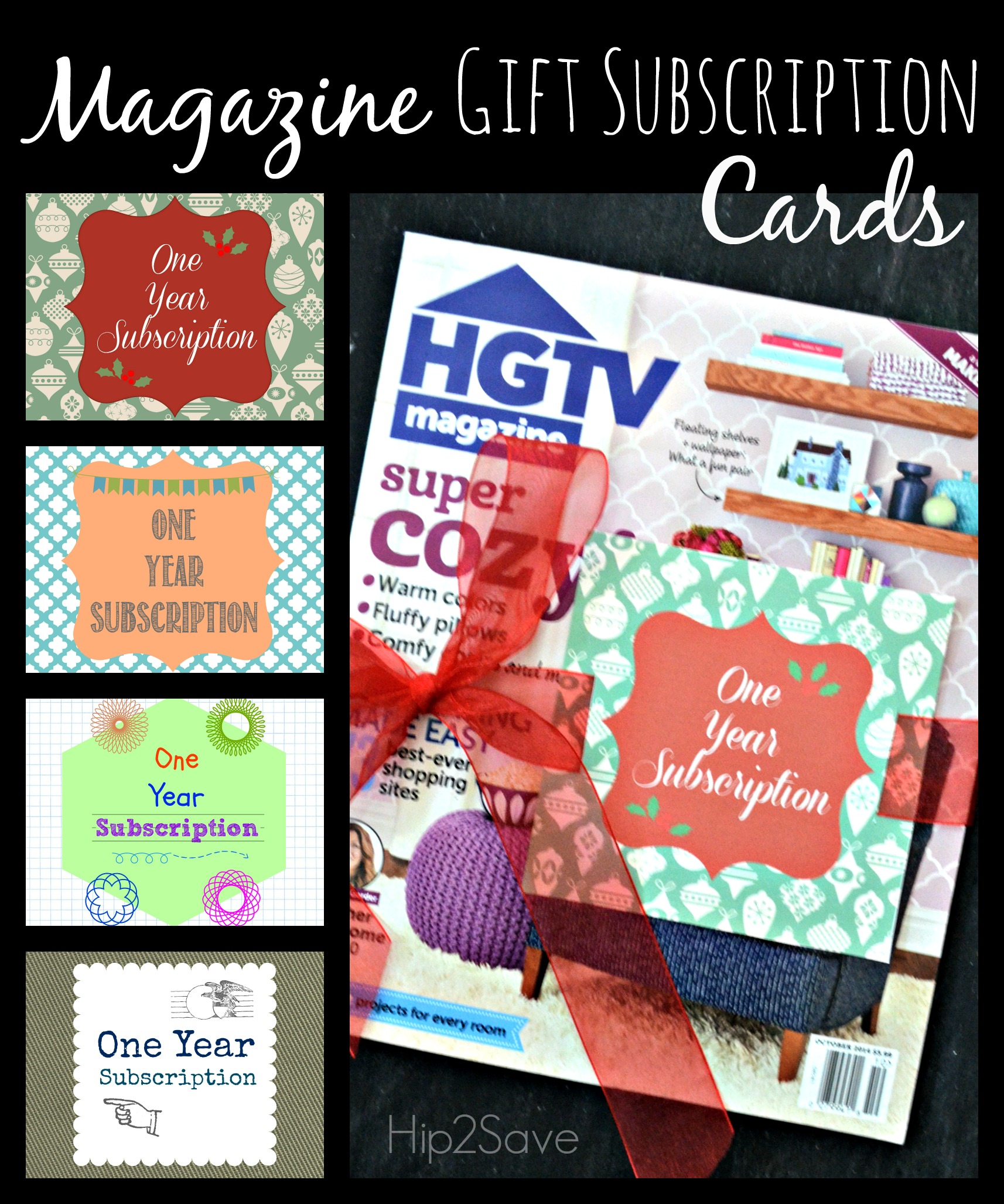 Free Printable Magazine Gift Subscription Cards Tags Hip2save