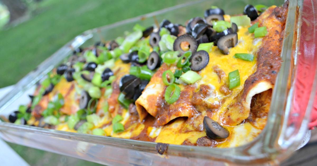 easy weeknight enchiladas in a baking dish