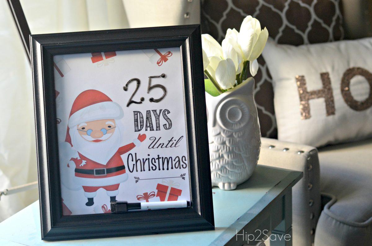 Days Until Christmas Free Printable Hip2Save