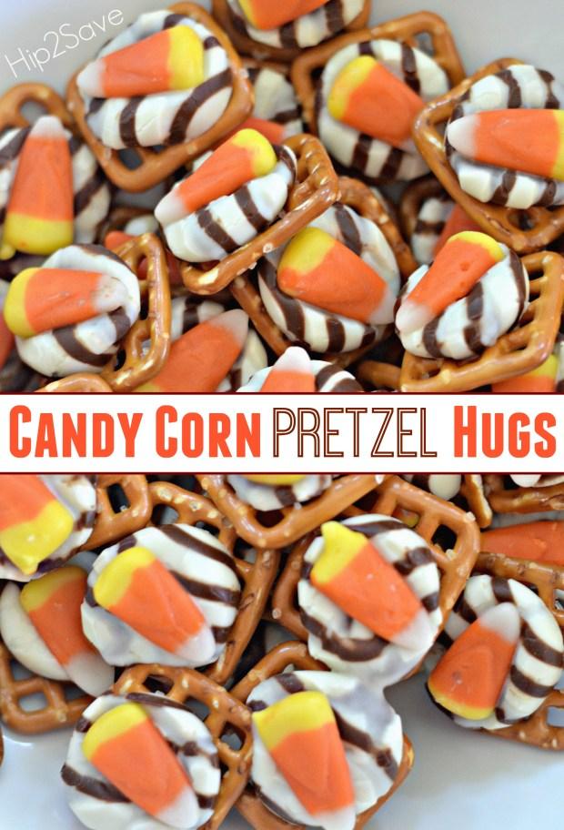 Candy Corn Pretzel Hugs Hip2Save