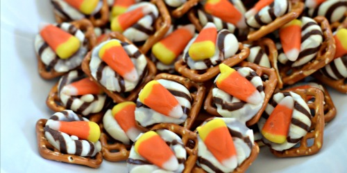 Candy Corn Pretzel Hugs Recipe – Only THREE Ingredients