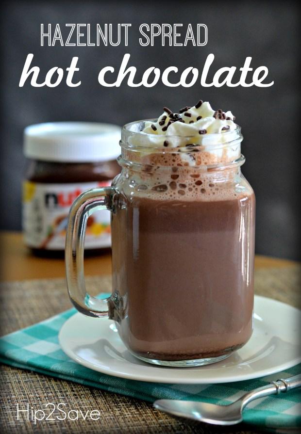 Hazelnut Spread Hot Chocolate (Just 2 Ingredients)