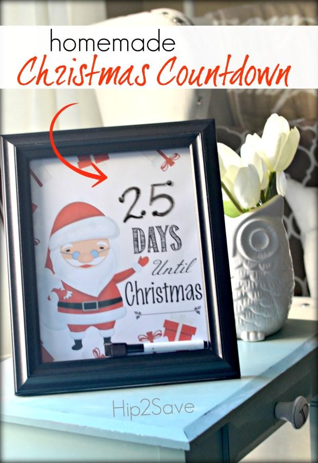 Homemade Christmas Countdown Free Printables For