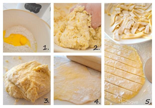 How to make homemade egg noodles Hip2Save