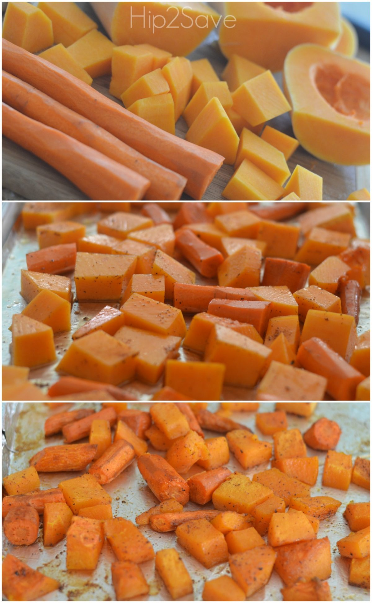 How to roast squash & carrots hip2save