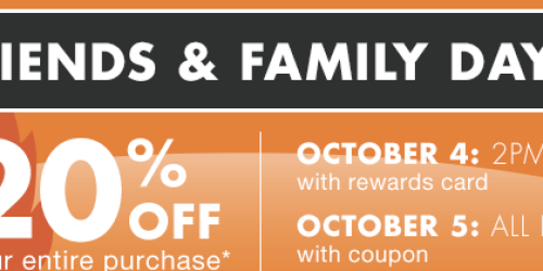 Big Lots: 20% Off ENTIRE Purchase Today for Buzz Club Members (or Tomorrow for Everyone)
