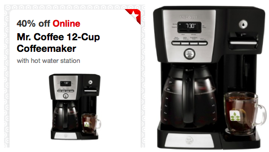 Target Cartwheel 40 Off Mr Coffee 12 Cup Maker W Hot Water Station Today Only