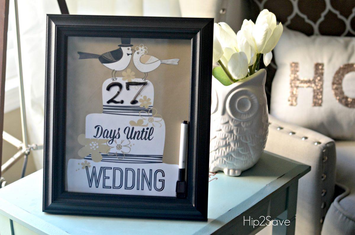 Wedding Countdown Free Printable Hip2Save