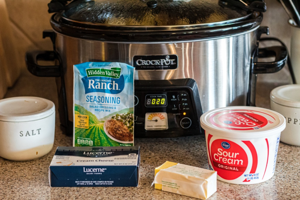 ingredients for slow cooker ranch mash potatoes