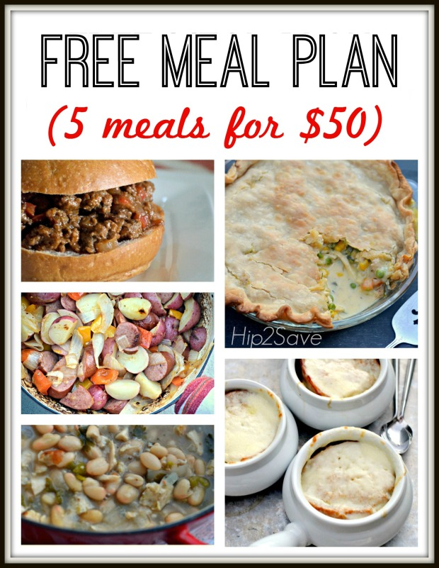 FREE Printable Meal Plan & Grocery List (Featuring 5 Weeknight Meals for Only $50)