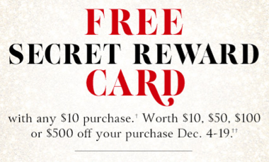 2e1a6ac2557 PLUS – don t forget that Victoria s Secret is now offering up a FREE Secret  Reward cards with any purchase of  10 or more – this offer runs through  December ...