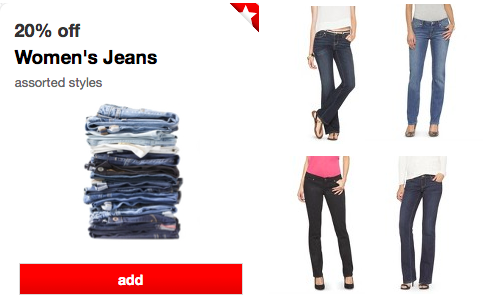 e75c707b7a400 Score super cheap Mossimo Jeans at Target this week! Check out the email I  received from reader, Julie: