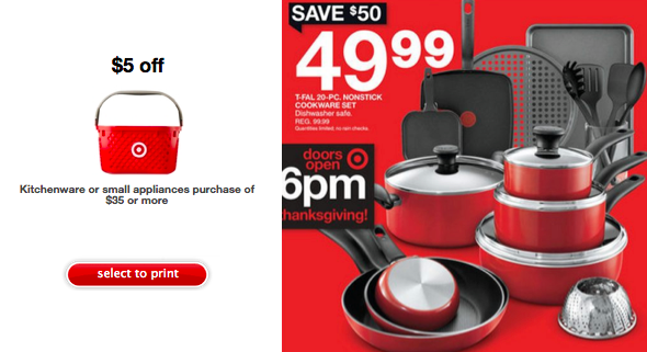 Target Black Friday Deal T Fal 20 Pc Cookware Set Only