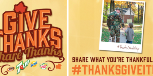 Share What You're Thankful For = $1 Donation to Military Warrior Support Foundation