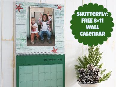 Shutterfly FREE Custom 8x11 Wall Calendar