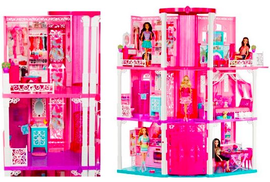 Amazon Barbie Dream House And Gund Holiday Bear Only