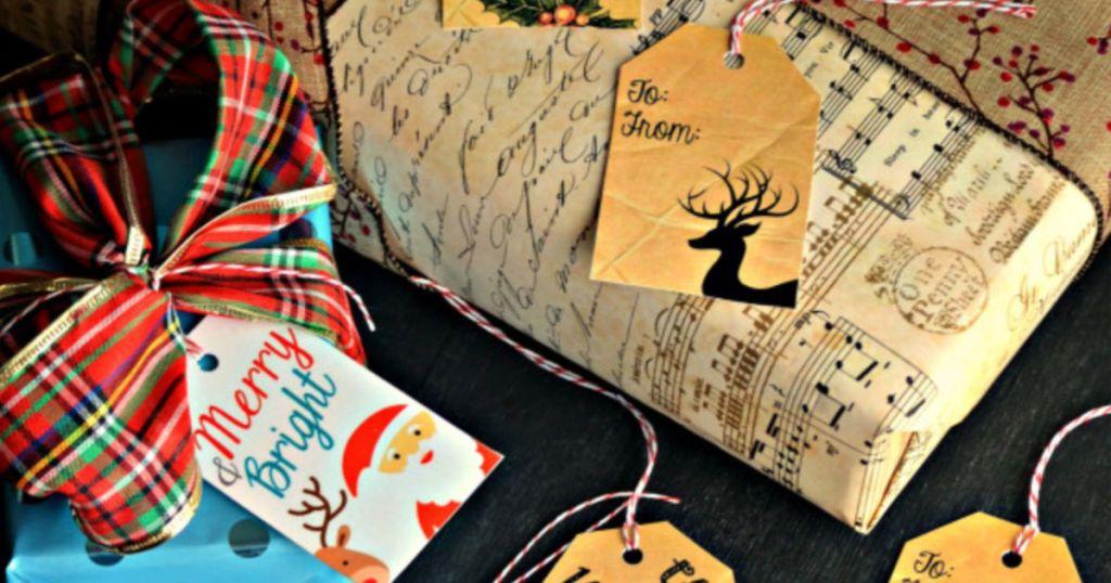 Free christmas gift tag printable