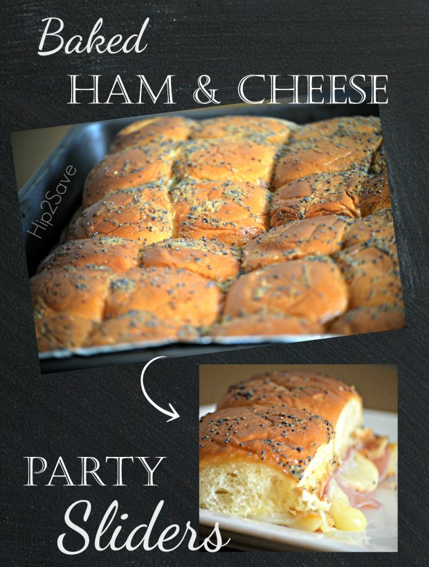 Easy Baked Ham & Cheese Party Sliders