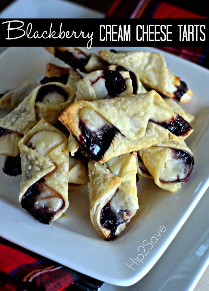Blackberry Cream Cheese Tarts Recipe Hip2Save