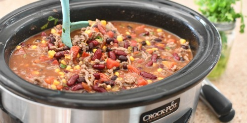 Make this Hearty Ranch Taco Soup in Your Crock-Pot Using Pantry Staples