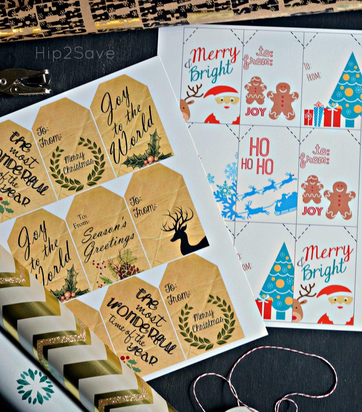 Free Christmas Gift Tags Hip2Save