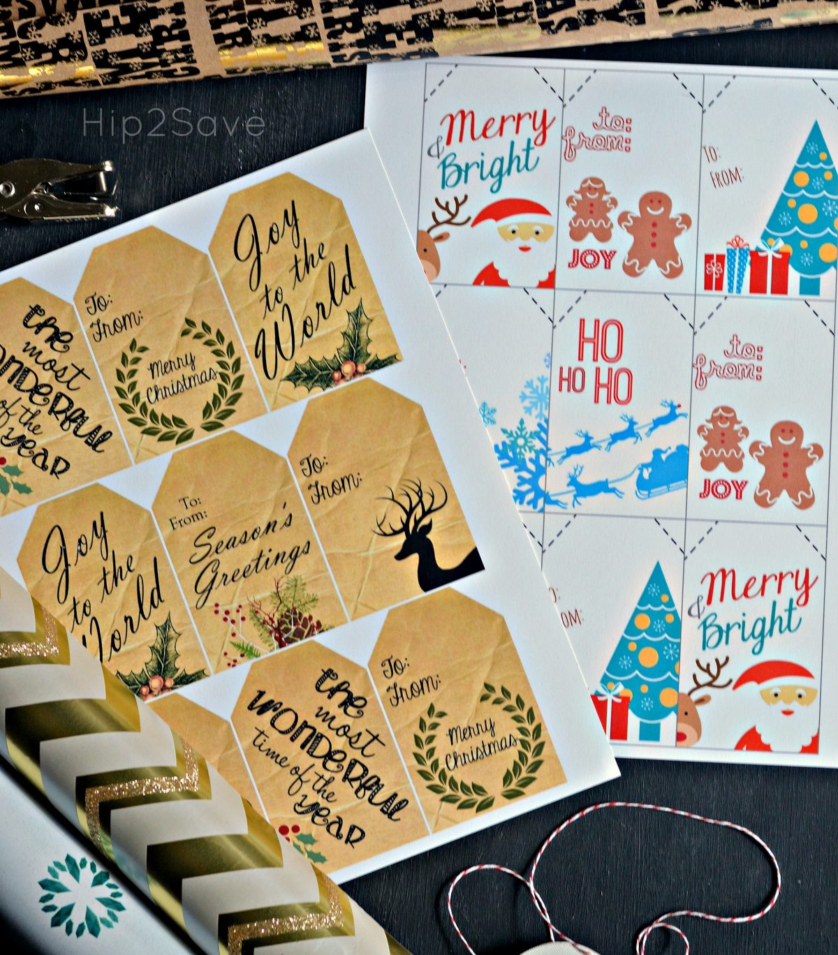 Free Christmas Gift Tags Hip2Save