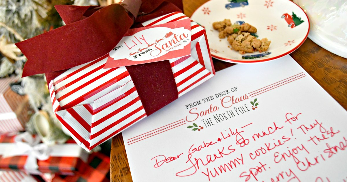 letterhead and gift tags for christmas