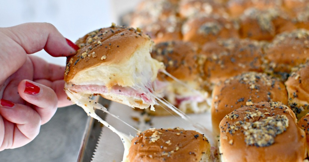 ham and cheese party sliders