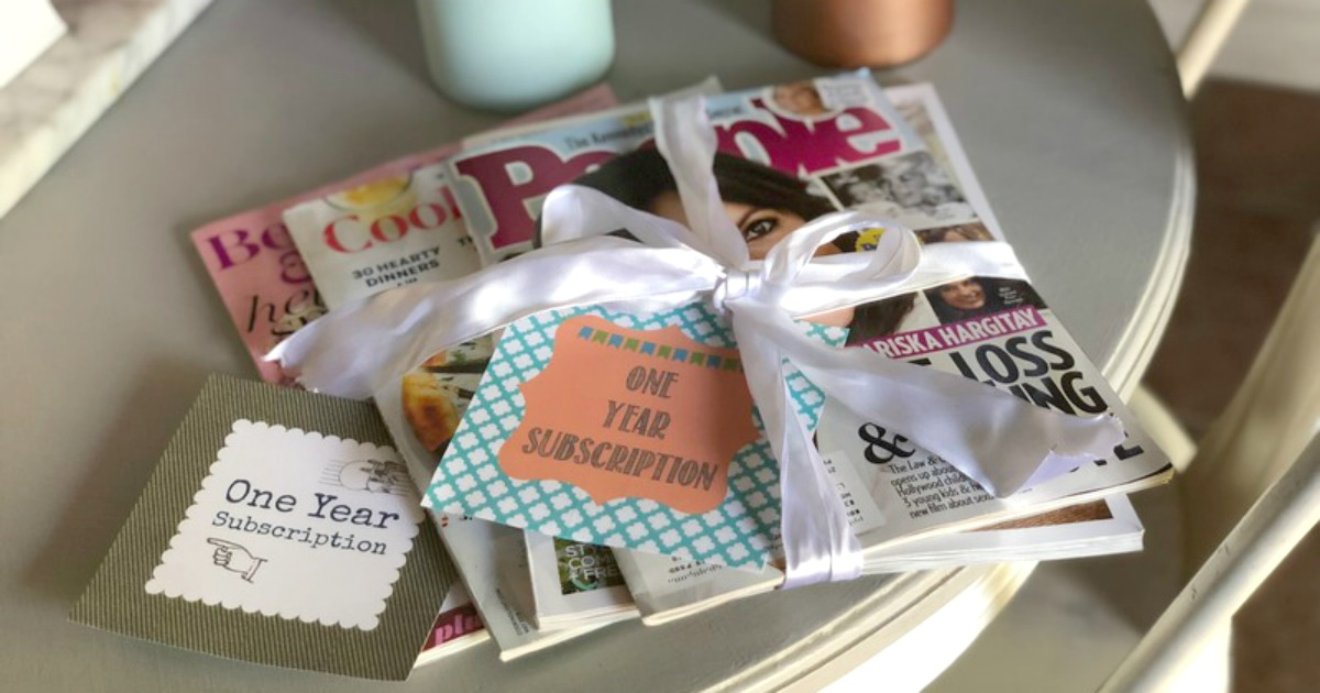 magazine gift subscription tags DIY