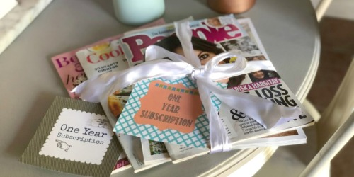 Free Printable Magazine Gift Subscription Cards/Tags