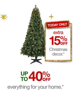 Target Com Extra 15 Off Already Discounted Christmas Decor